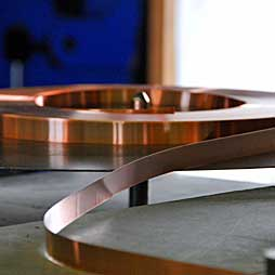 Reel-To-ReeElectroplating, stamped and unstamped metal stripes